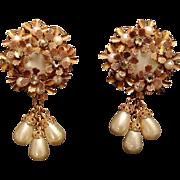 SALE Robert De Mario 1950s Faux Pearl Earrings
