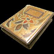 SALE Vintage Sterling Silver & Enameled Floral Book Locket