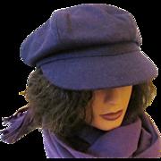 SOLD Betmar New York 'Boy Meets Girl Newsy Cap' Adjustable Wool Hat - 1980s-90s
