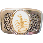 SOLD Vintage Cowboy/Cowgirl Belt Buckle with Real Scorpion Embedded on Stone