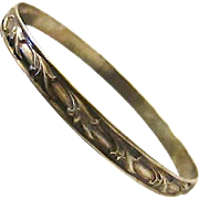 SALE Collectable Early Danecraft Sterling Silver Bangle Bracelet