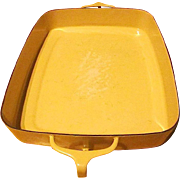 REDUCED Vintage Kobenstyle-Yellow (Sungold) Enamelware Open Baking Pan By Dansk - 1956