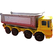 Vintage Matchbox #51 Die-cast 8-Wheel Pointer Tipper Dump Truck with Ergomatic Cab by Lesney