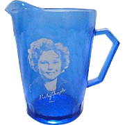 Vintage Shirley Temple Atlas Glass Creamer Pitcher - 1930s