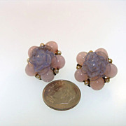 RARE Louis Rousselet Vintage Made In France Clip Earrings