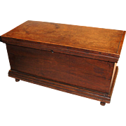 Miniature Walnut Blanket Chest from Shenandoah Valley of Virginia