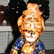 Southern Folk Art Pottery Figural  Billy Hussey