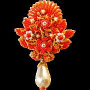 Stanley Hagler Seashell/flower Brooch