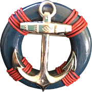 Ship's Anchor/Life Saver's Ring Pin
