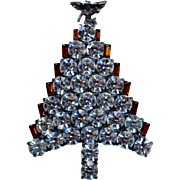 Christmas Tree Pin with Angel Top