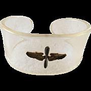 Lucite Sweetheart Cuff Bracelet
