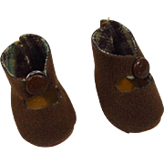 SOLD Nancy Ann Muffie HTF Brown Center Snap Shoes