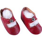 SOLD Vintage Red Center Snap Shoes for Toni, Shirley Temple and Others