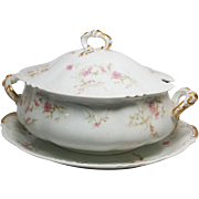 Classic Porcelain Soup Tureen with Large Platter ~ Haviland @ Co Limoges France 1890-1896 ...