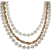 """Sarah Coventry """"Golden Ice"""" Necklace"""
