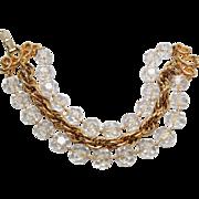 """Sarah Coventry """"Golden Ice"""" bracelet"""