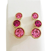 """Sarah Coventry """"Saucy"""" clip earrings 1965"""