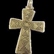 Ethiopian Etched Coptic Cross Pendant