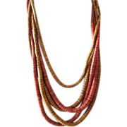 """SALE 1980's """"Naturals"""" Style Runway Necklace"""