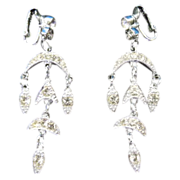 "Sarah Coventry ""Hong Kong"" chandelier earrings late 1960's"