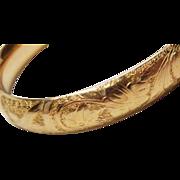 Rolled Gold hinged bangle bracelet