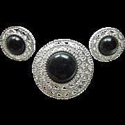 "Sarah Coventry ""Jet Set Versatile""  pin earrings"
