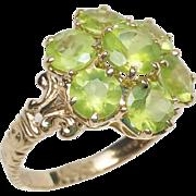 14K Pale Peridot ring Fancy Setting MISSRO