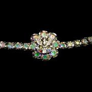 Fraternal Order of Eagles International (F.O.E.)  AB rhinestone bracelet