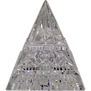 Stunning Waterford Pyramid Paperweight