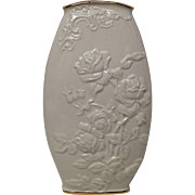Lovely Lenox Vase with Embossed Roses and Leaves