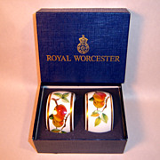 SALE Royal Worcester EVESHAM Pair of Napkin Rings with Box