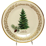 Lenox Christmas Tree Douglas Fir Commemorative Plate 1976