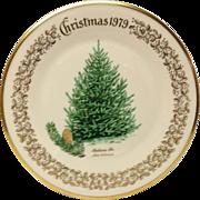 Lenox Christmas Tree Balasm Fir Commemorative Plate 1979