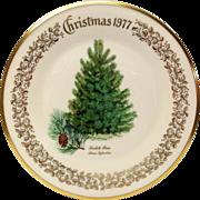 Lenox Christmas Tree Scotch Pine Commemorative Plate 1977