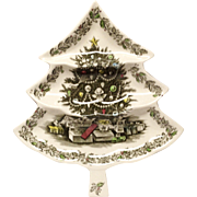 Johnson Brothers Merry Christmas Large Tree Tray
