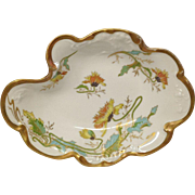 Unusual Jean Pouyat (JPL) Limoges Free Form Dish or Tray