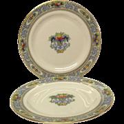 Pair (2) Vintage Lenox Autumn Salad Plates, Black Mark