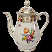 Schumann Empress Dresden Flowers Coffee Pot