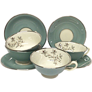 Lenox Kingsley Set (4) Cup & Saucer Sets
