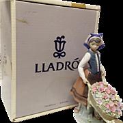 """Boxed  Lladro """"A Barrel of Blossoms"""" #1419"""