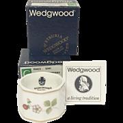 Boxed Pair Wedgwood Wild Strawberry Napkin Rings