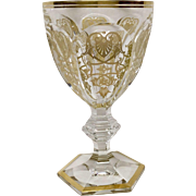 Stunning Baccarat Empire Crystal Red Wine Goblet