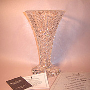 "Waterford Crystal ""Master Cutter"" Tall Vase with Box and COA"