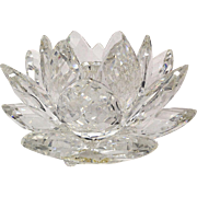 Swarovski Crystal 1982 Medium Water Lily Candle Holder with Box