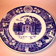 Wedgwood MacMurray College for Women 1946 Centennial Plate