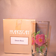 Box of  Four Franciscan Desert Rose 15 oz Tall Tumblers