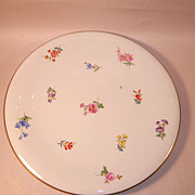 "REDUCED Meissen ""Scattered Flowers"" Round Platter or Plaque"