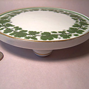 REDUCED Meissen Full Green Vine Wonderful Footed Trivet
