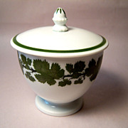 REDUCED Meissen Full Green Vine Covered Sugar