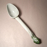 REDUCED Meissen Full Green Vine Ladle